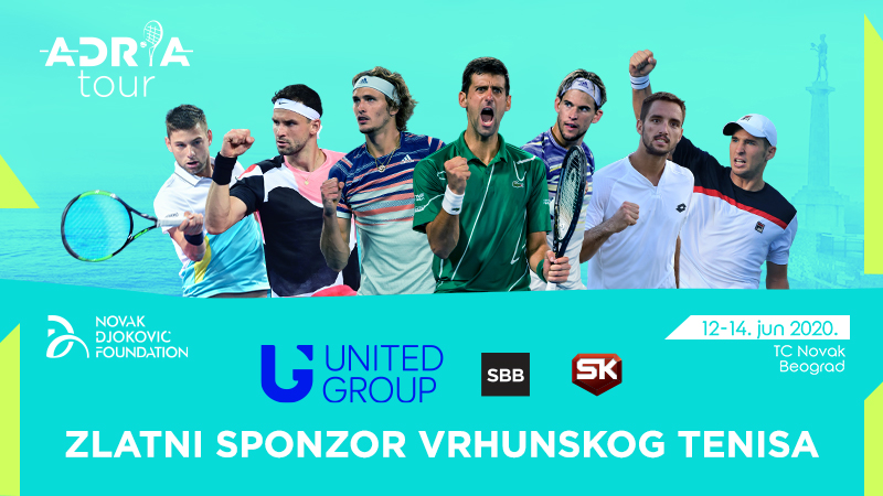 United Grupa glavni sponzor humanitarnog turnira Adria tour