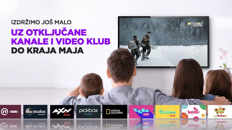 Izdržimo još malo – otključani kanali i Video klub do kraja mjeseca!