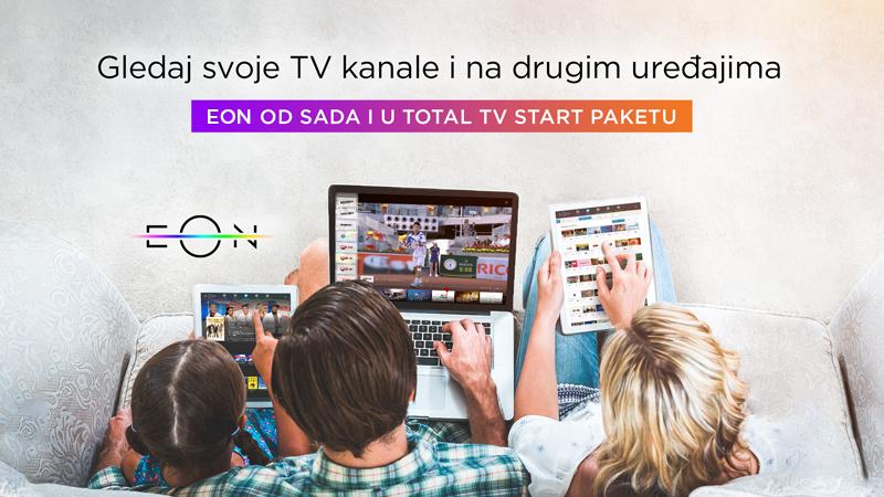 EON aplikacija od sada dostupna i korisnicima Total TV Start paketa