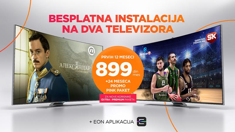 Jedna akcija na dva televizora! Gledaj najtraženiji Total TV sadržaj uz besplatnu instalaciju